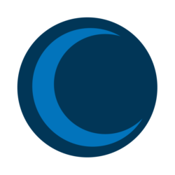 "9pm Studios blue moon alternate ""icon"" logo"
