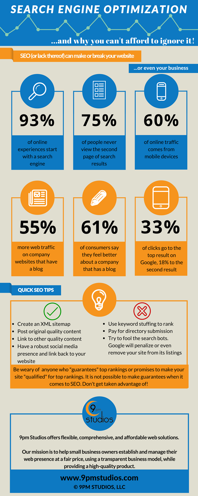 SEO statistics and tips infographic
