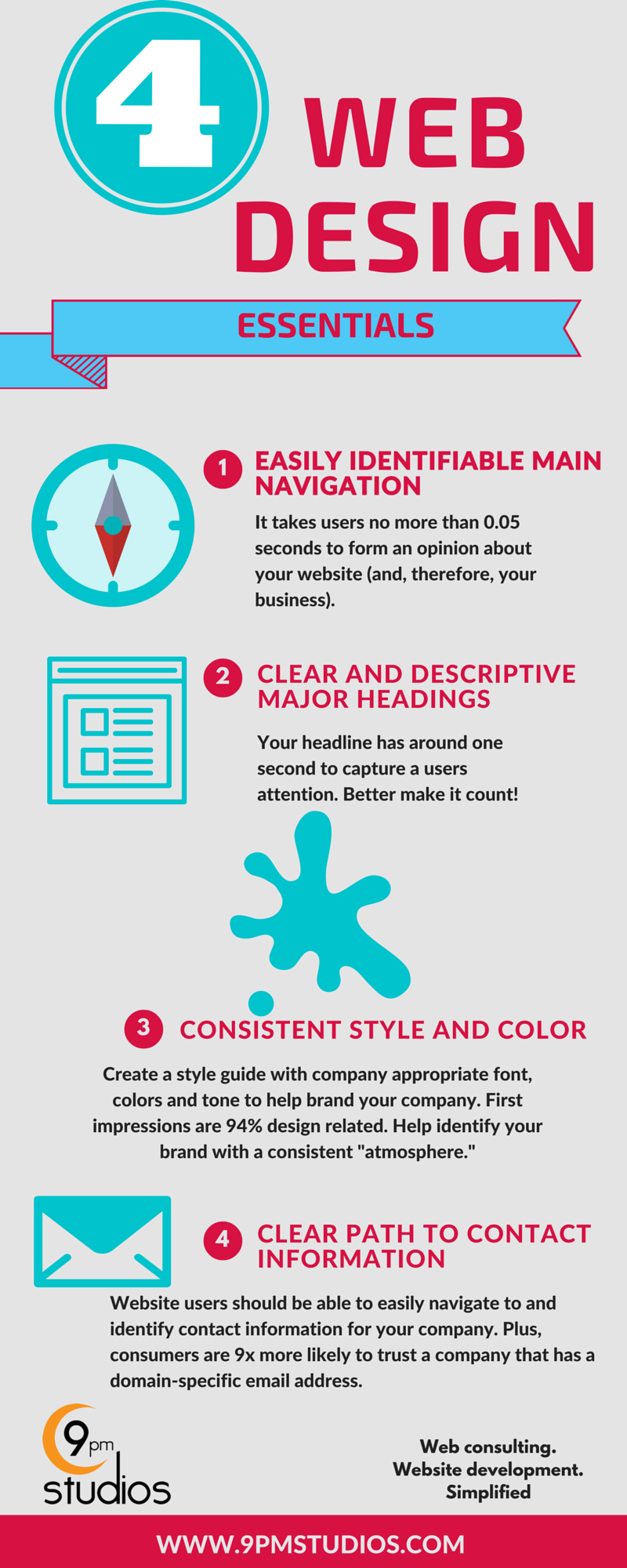 Web design tips infographic