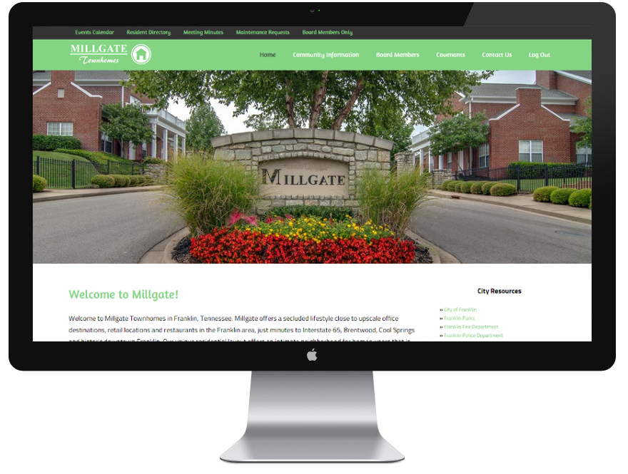 Millgate Townhomes website