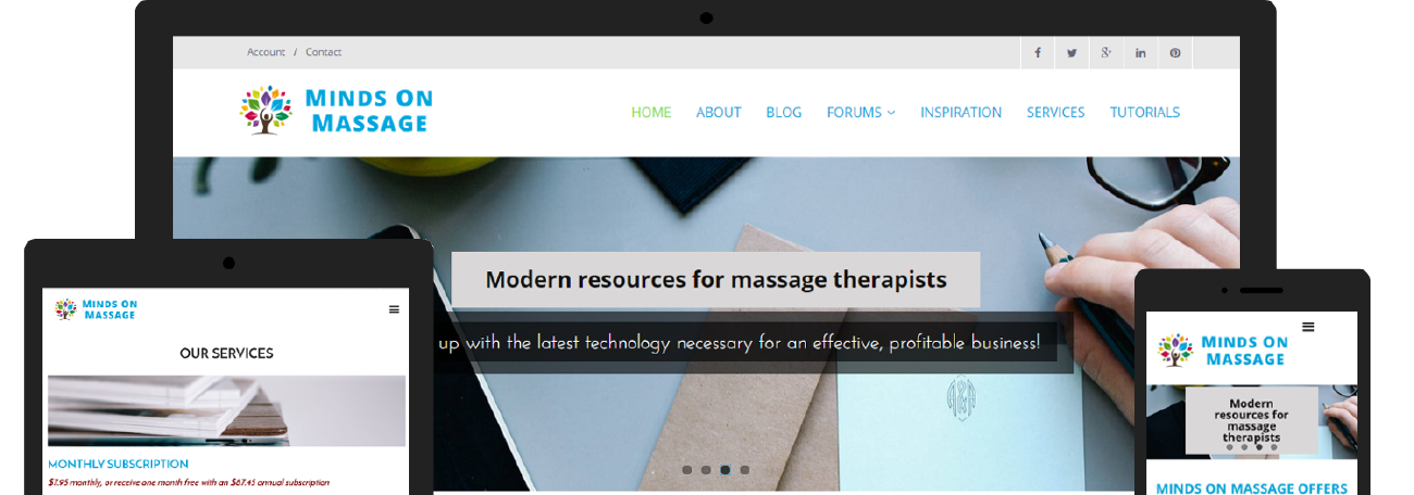 Minds on Massage | Responsive website design